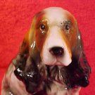 Antique VintageGerman Majolica Springer Spaniel Dog Figurine, gm791