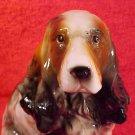 Antique VintageGerman Majolica Springer Spaniel Dog Figurine, gm791