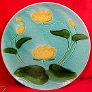 Antique German Majolica Water Lily Platter Schramberg c.1920, gm719