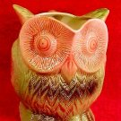 Antique Numbered French Majolica Owl Pitcher, fm829