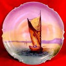 Antique Hand Painted Limoges Wall Platter Known Artist Signed c.1906-1920, L113