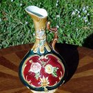 Antique Austrian Majolica Handled Vase, Urn, Planter c.1850's-1880's, gm760