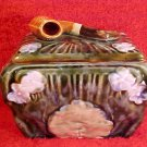 Antique Austrian Pipe & Flower Tobacco Jar Humidor c.1850-1910, gm755
