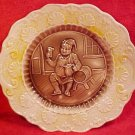 Antique German Majolica Beer Drinking Platter, gm35