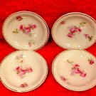 Lovely Set of 4 Antique Porcelain Austrian Victorian Butter Pats c.1904-1918, p156
