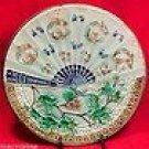Antique Majolica Fan & Flowers Plate c.1800-1880, gm428