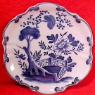 Antique French Faience Creil Montreau Flo Blue Cabinet Plate c.1800&#39;s, ff274