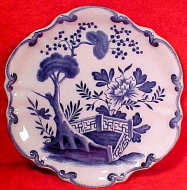 Antique French Faience Creil Montreau Flo Blue Cabinet Plate c.1800's, ff274
