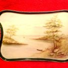 Antique Hand Painted French Porcelain Dresser Tray Late 1800's Artist Signed, p162