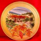 "Large Fitz & Floyd Majolica Wall Platter Del Vino 12.5"" Grapes & Leaves, gm754"