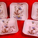 Antique Porcelain Butter Pats Set of 5 Marked, French or German, p140