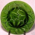 Antique French Majolica Clairefontaine Plate c.1860-1875, fm287