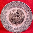 Antique Sarreguemine Faience Napoleon on Horseback Plate c.1880-1930, ff220
