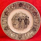 Antique Sarreguemines Faience November Calendar Plate c.1856, ff222