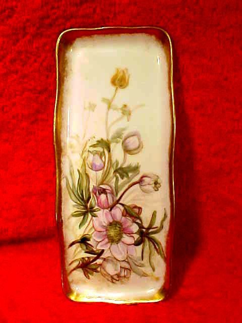 Antique Deliniers Limoges France HP CDresser Tray c.1894-1900, L187