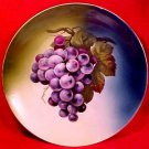 Antique German Porcelain Grapes Leaves Cabinet Plate c.1880+ ZS&Co., p91