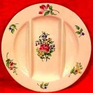 Luneville Rose & Wild Flowers Faience Majolica Asparagus Plate, lun48