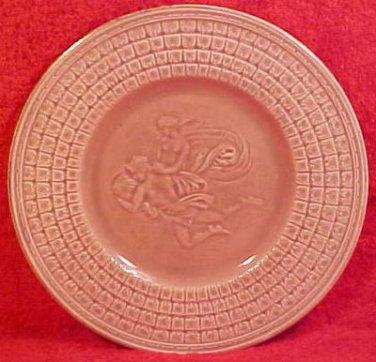 Antique American GSH Majolica Classical Plate c.1879, fm574