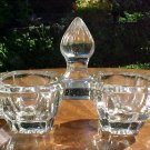 Antique French Victorian Crystal Open Salt &Pepper, gl55