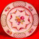 Vintage German Dresden Porcelain Flowers Plate, hp70