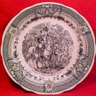Antique Sarreguemines Faience Napoleon Plate / Wounded Soldier, fm708
