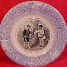 Antique Luneville Faience Hunting Plate c.1889, fm564
