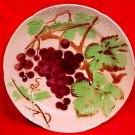 Antique Victorian French St. Clement Majolica Grapes Plate c.1890, fm768