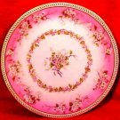 Antique T&V Limoges Pink White Flowers Plate, p78
