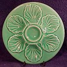 Vintage French Green Oyster Plate c.1950's, op114