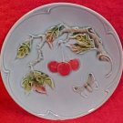 Antique German Majolica Butterfly Plate Zell c.1930's, gm239