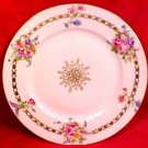 Antique Hand Painted Limoges Flowers & Medallion Plate Gold c.1894-1900's, L132