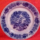 Antique Luneville Flow Blue French Faience Plate c.1889, ff208