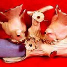 Exquisit Vintage Capodimonte Doves & Flowers Fine Porcelain Napkin Holder Ring, fm806