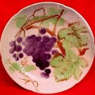 Antique Saint Clement Majolica Grapes Plate c.1890, fm769