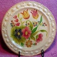 Antique Queensware Staffordshire Majolica Plate, em4
