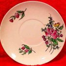 FF12, ANTIQUE FRENCH LUNEVILLE FAIENCE DISH ROSES