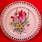 Antique Luneville K&G Tulip Reticulated Plate, lun63