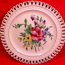 Antique Luneville K&G Roses Reticulated Plate, lun61