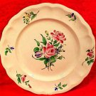 Antiue K&G Luneville Double Roses Faience Plate 10 Inches, lun84