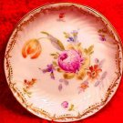 Antique Dresden Tulip & Flowers Butter Pat, p142