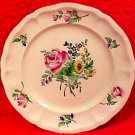 Antique K&G Luneville Multi Flowers Faience Plate, lun89