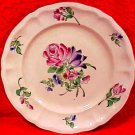 Antique French K&G Luneville Multi Flowers Faience Plate, lun88