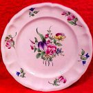 Antique French Luneville Flowers Faience Plate, lun87