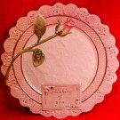 Vintage Fitz and Floyd Majolica Rose Plate Thinking of You, fm834