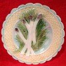 Antique French Majolica Asparagus Plate Salins-les-Bains, fm861