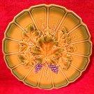 Antique Vintage Sarreguemines Majolica Grapes & Wine Leaf Platter, fm868