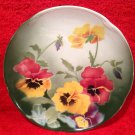 Antique French Luneville K&G Faience Pansy Flowers Plate c.1900, fm866