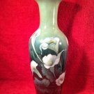 Huge Vintage Hand Painted Signed Porcelain Vase Calla Lilies, p178