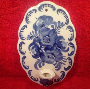 Vintage French Faience Wall Candle Holder, ff300