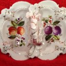 Antique German Porcelain Handled Divided Dish c1875-1925, p189
